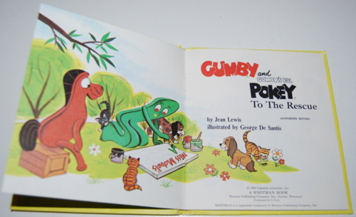 Gumby & pokey to the rescue whitman book 2
