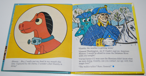 Gumby telestory book gumby crosses the delaware 5