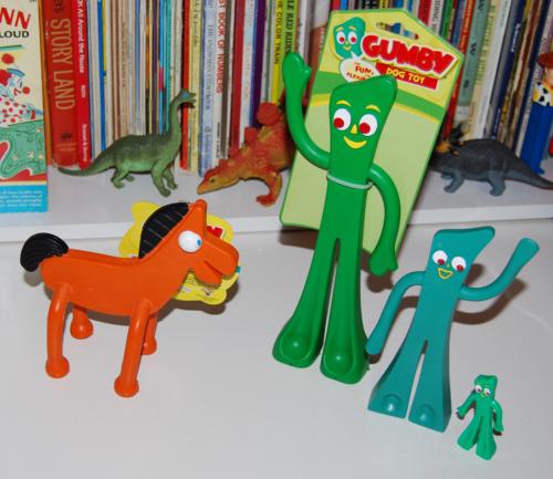 Gumby & pokey dog toys x