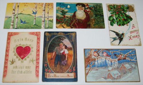 Antique holiday postcards