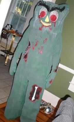 Zombie gumby costume