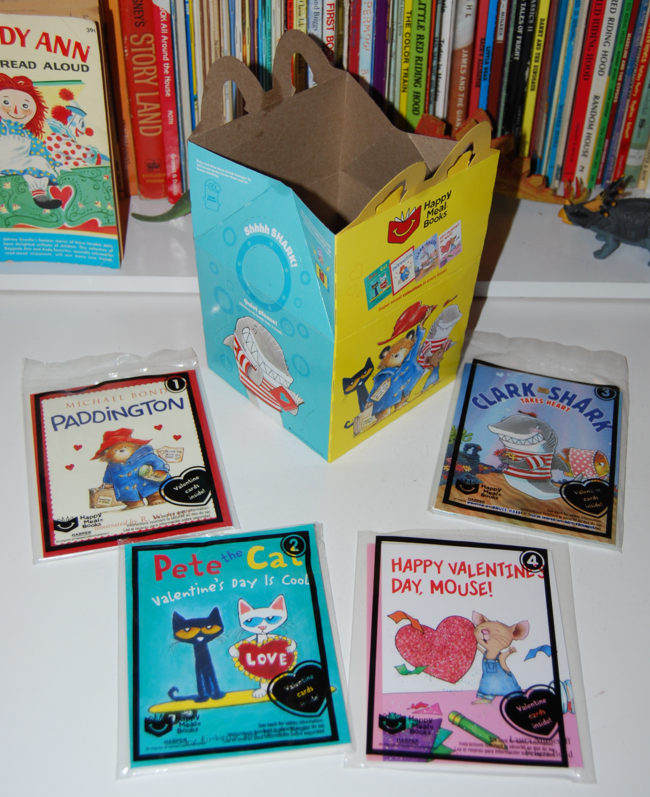 happy meal books & valentines