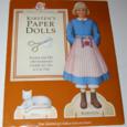 American girls paperdolls kirsten