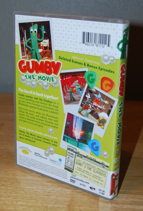 Gumby the movie dvd x