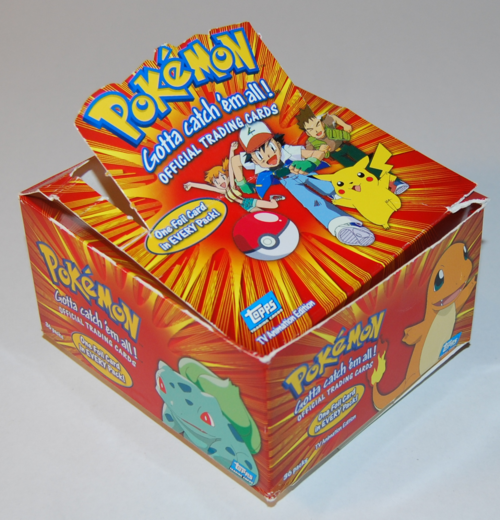 Topp's pokemon card box