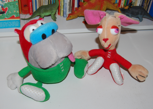 Ren & stimpy plush toys