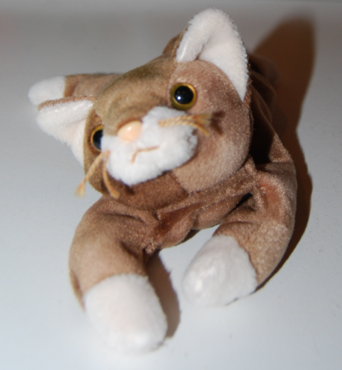 Ty beanie baby kitty brown