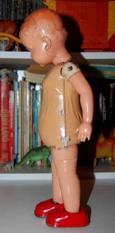Vintage metal walking doll 2