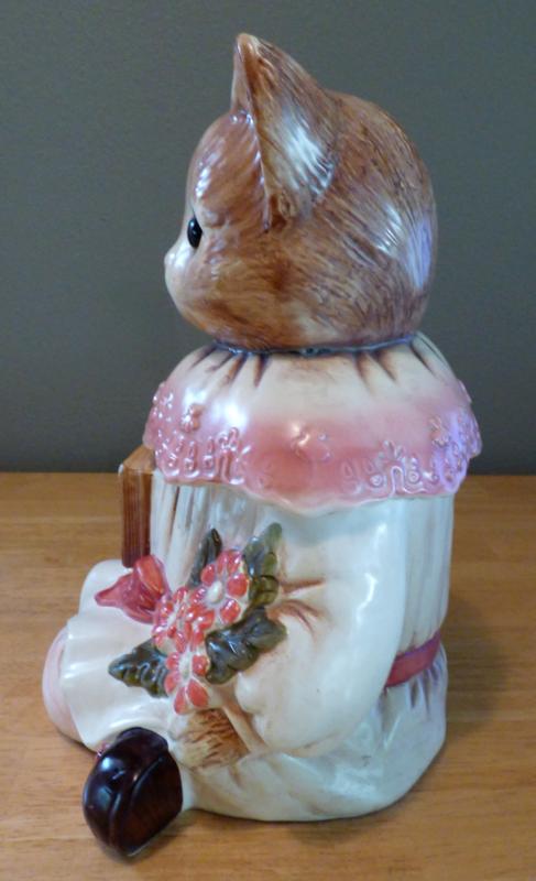 Vintage kitty cookie jar 4