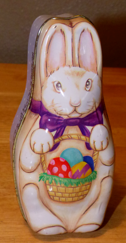 Easter bunny tin