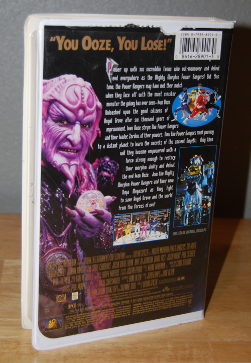 Mighty morphin power rangers the movie vhs x