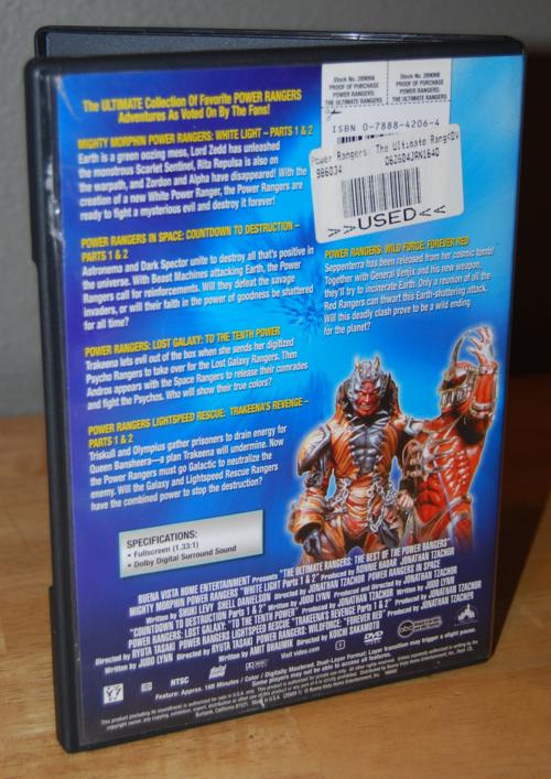 Best of power rangers dvd x