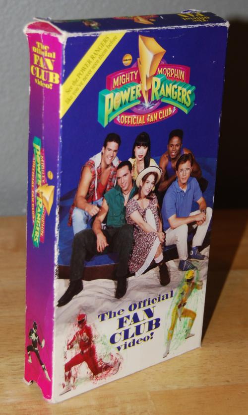 Power rangers fan club vhs tape