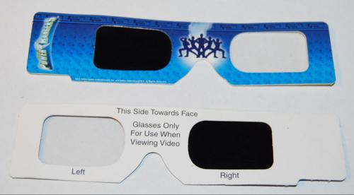 Power rangers 3d glasses