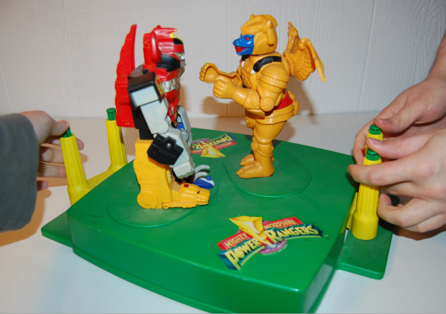 mighty morphin rock'em sock'em power rangers game