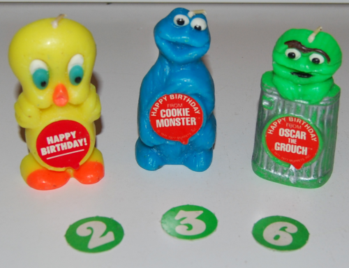Vintage sesame street birthday candles 1