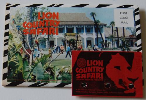 Vintage lion country safari ephemera x