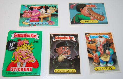 Garbage pail kids cards 15th series