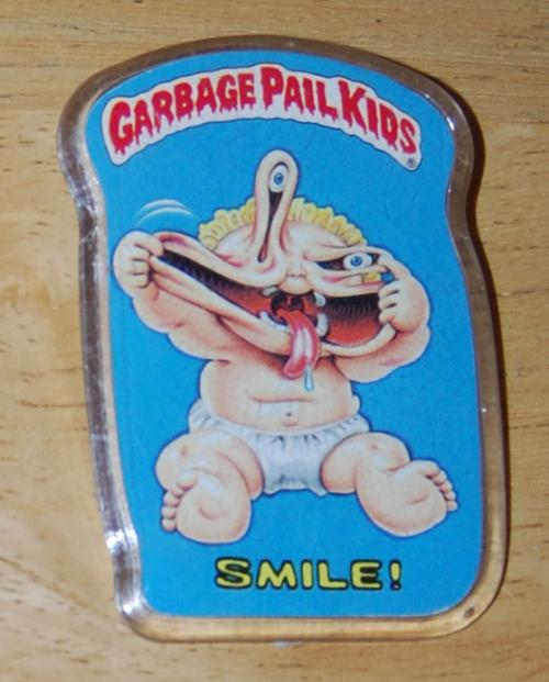 Garbage pail kids button