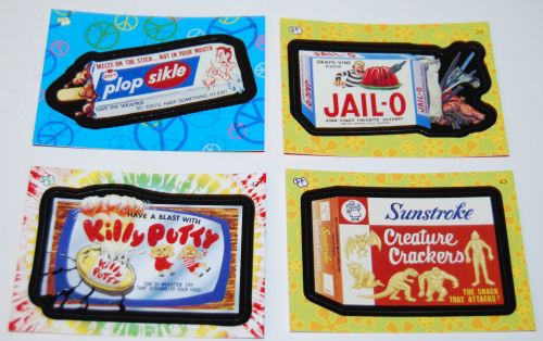 Wacky pack flashback stickers 2008 3