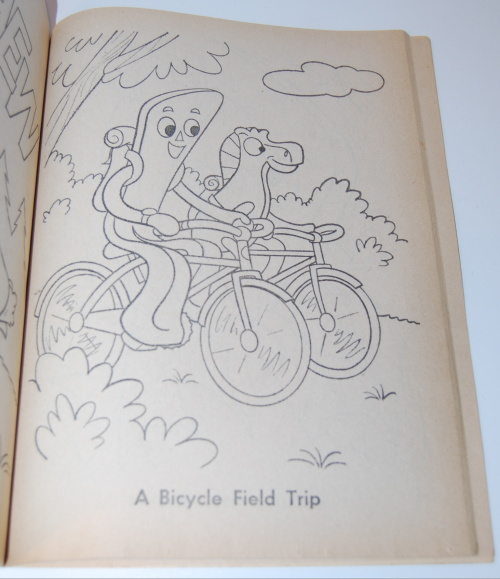 Gumby & pokey coloring book whitman 9