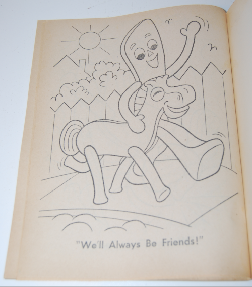 Gumby & pokey coloring book whitman 12
