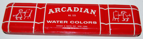 Binney & smith arcadian water colors tin