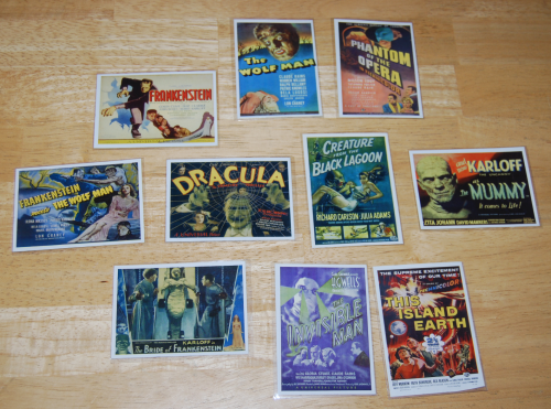 Universal monsters cards