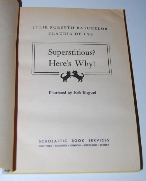 Superstitious scholastic book 1