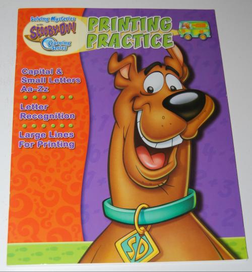 Scooby doo printing practice book