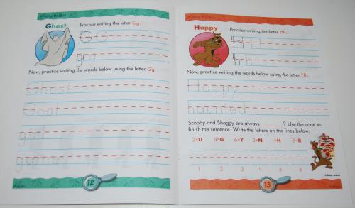 Scooby doo printing practice book 3