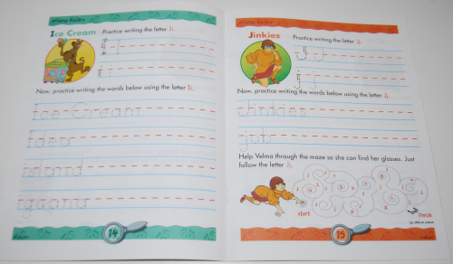 Scooby doo printing practice book 4