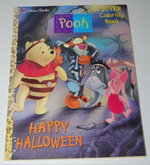 Winnie the pooh halloween coloring book