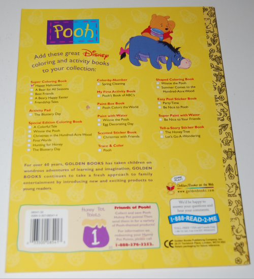 Winnie the pooh halloween coloring book x