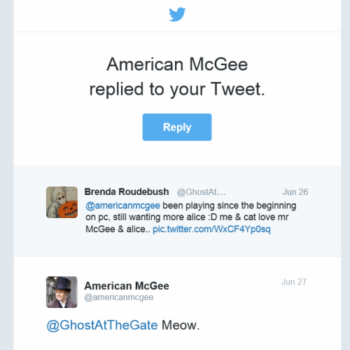 American mcgee tweet