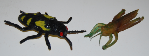 Vintage rubber insects