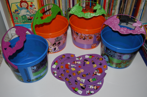 Peanuts halloween happy meal pails 2016