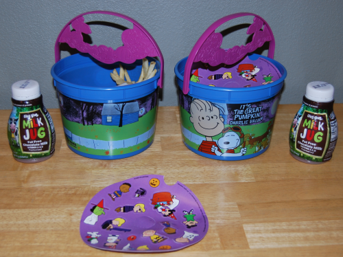 Peanuts halloween happy meal pails 2016 x