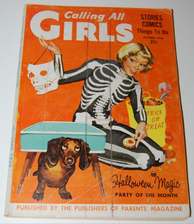 vintage halloween mags