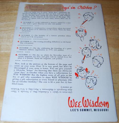 Wee wisdom october 1951 x