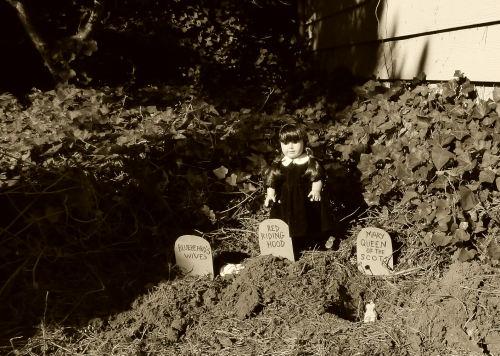 Wednesday addams doll graveyard 2