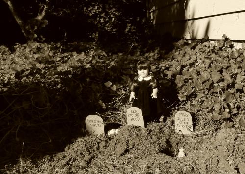 Wednesday addams doll graveyard 2