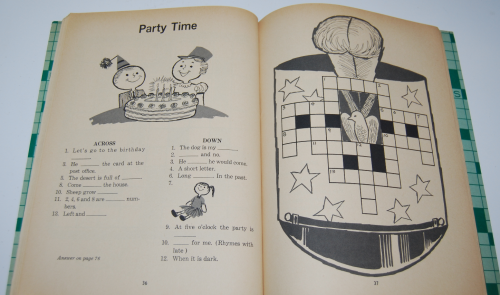Vintage children's crossword puzzle book 5