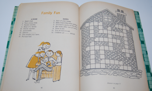 Vintage children's crossword puzzle book 6