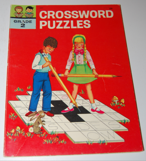 Vintage children's crossword puzzle book 1963