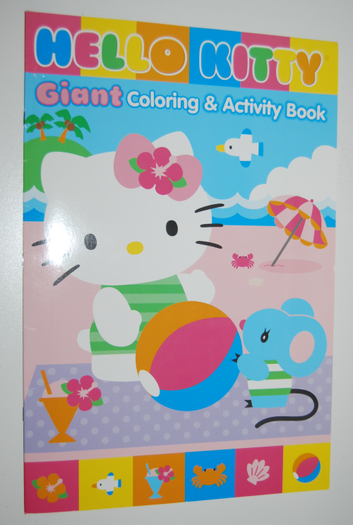 Giant hello kitty coloring book