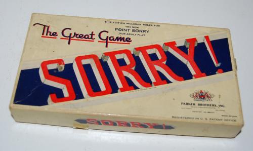 Vintage sorry game