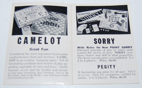 Vintage sorry game 3