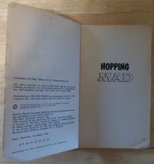 Vintage hopping mad book x