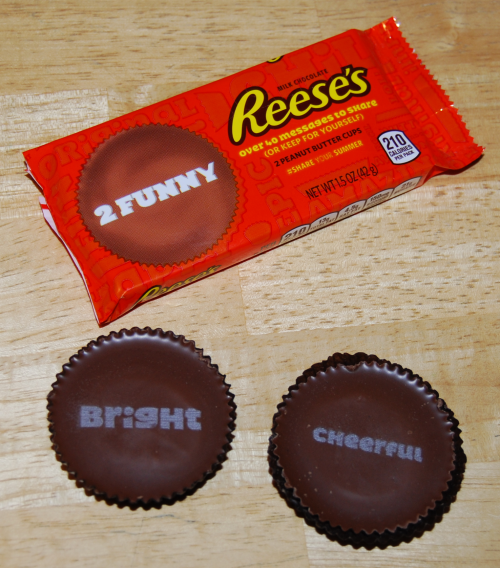 Reese's peanut butter cup messages